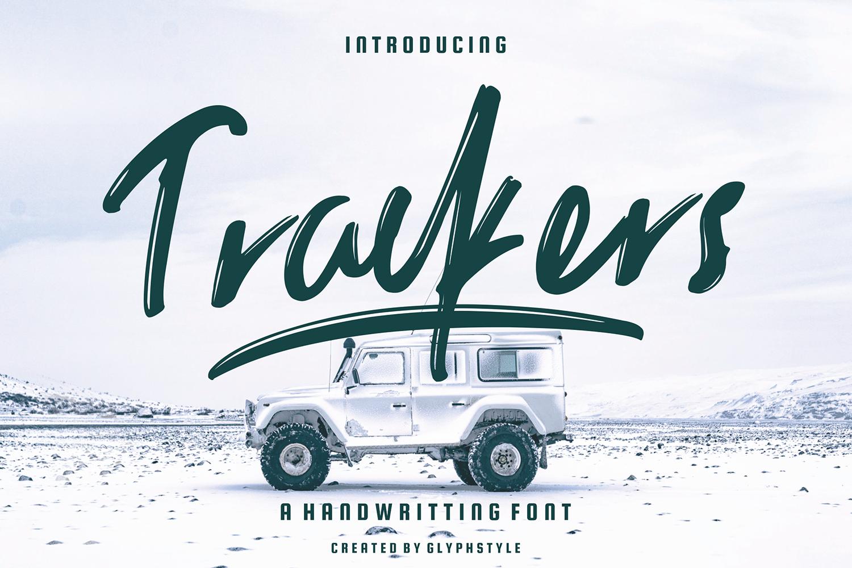 Trackers Handwritten Free Font