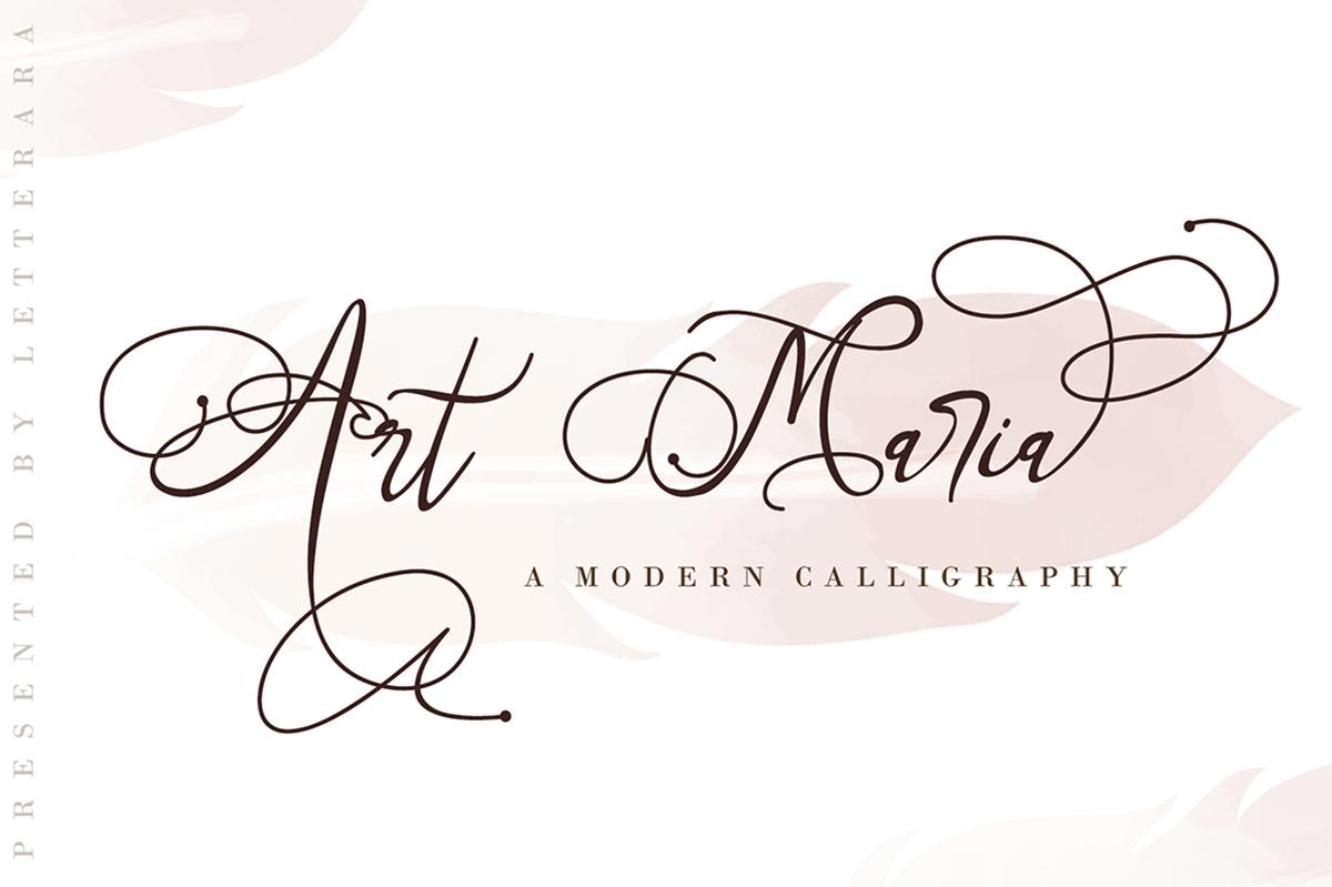 Art Maria Free Font