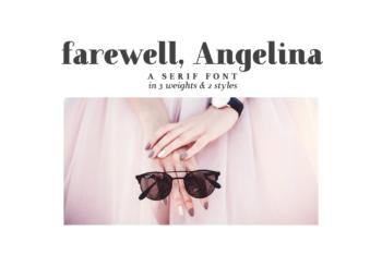 Farewell Angelina Free Font