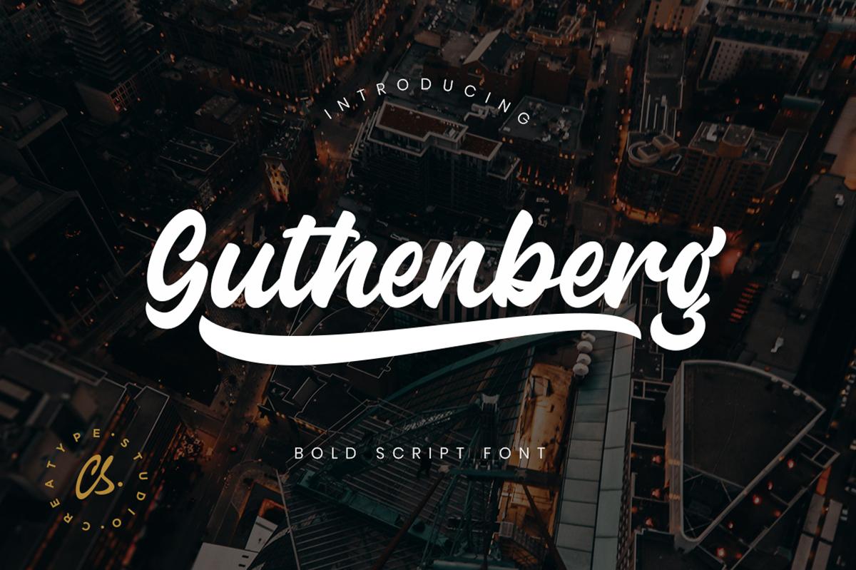 Guthenberg Free Font