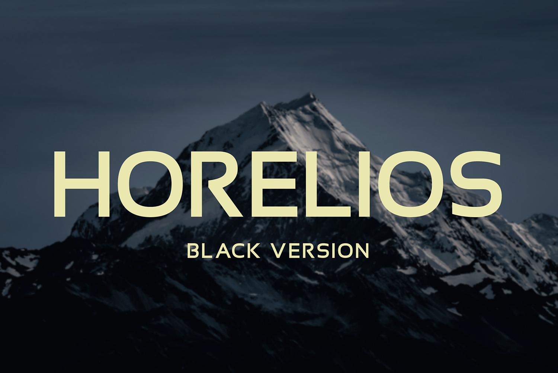 Horelios Black Free Font