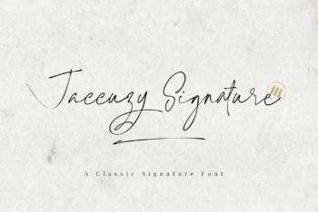Jaccuzy Signature Free Font
