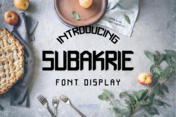 Subakrie Free Font