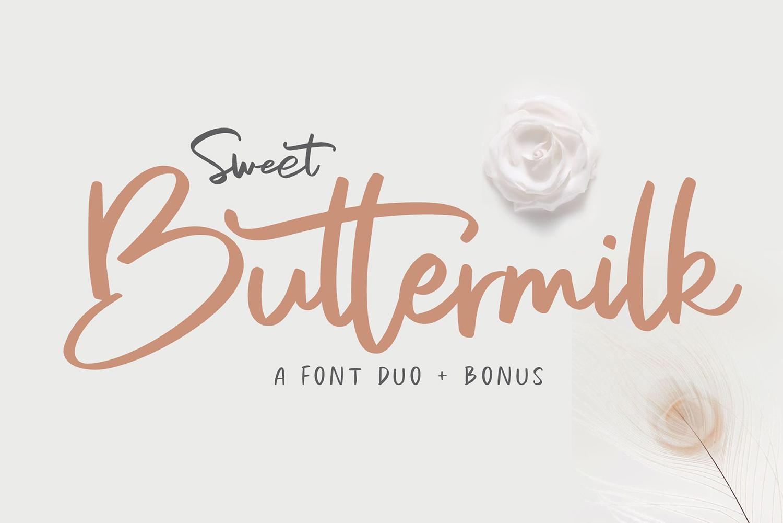 Sweet Buttermilk Free Font