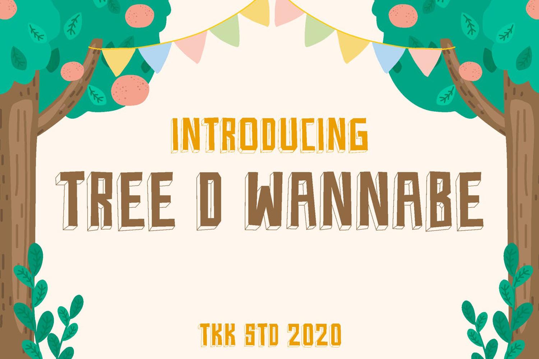 Tree D Wannabe Free Font