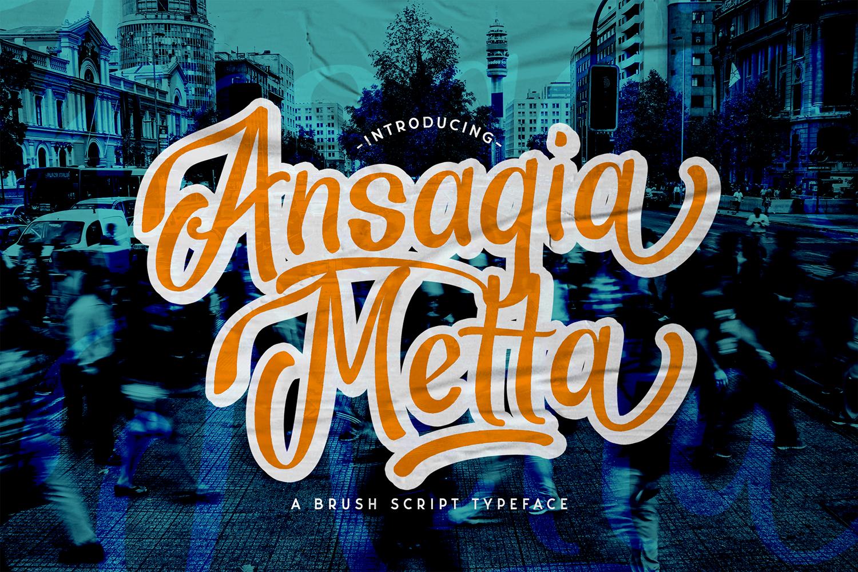 Ansagia Metta Free Font