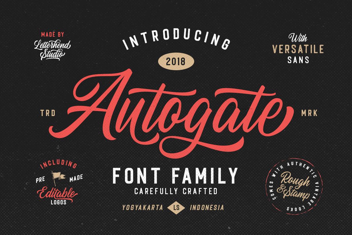 Autogate Free Font