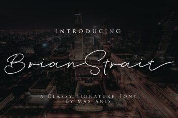 Brian Strait Free Font