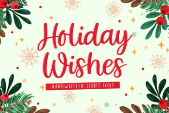 Holiday Wishes Free Font