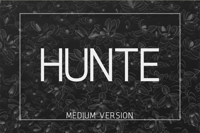 Hunte Free Font