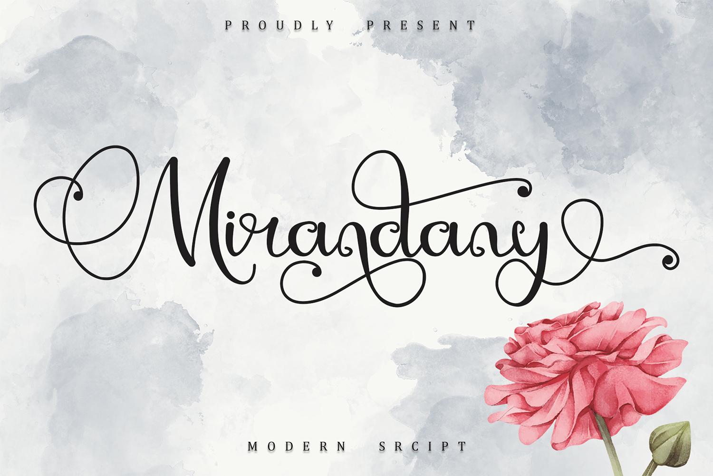 Mirandany Free Font