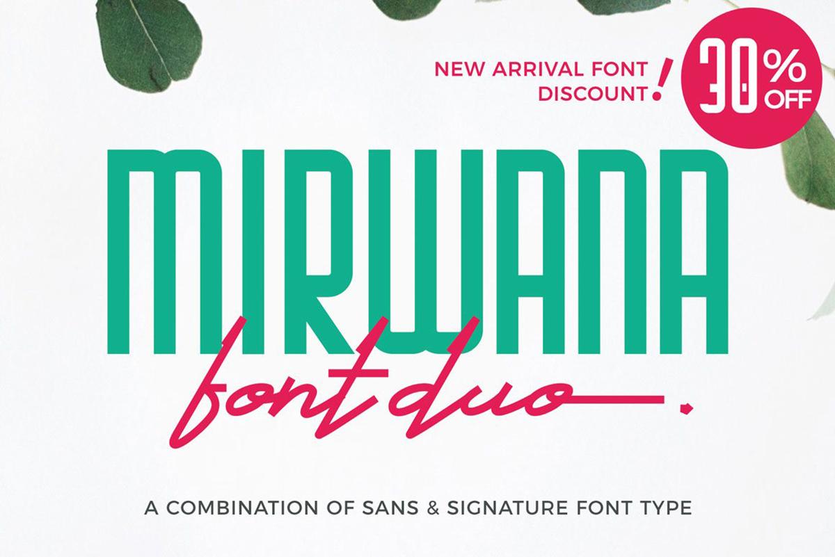 Mirwana Free Font