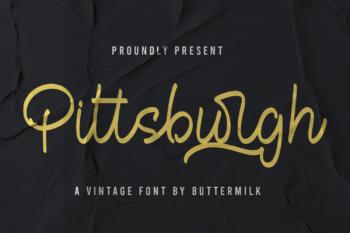 Pittsbutgh Free Font