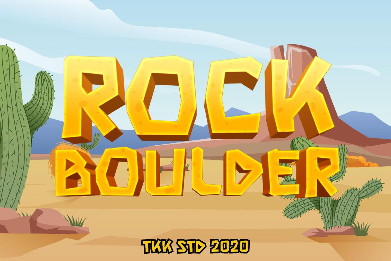 Rock Boulder Free Font