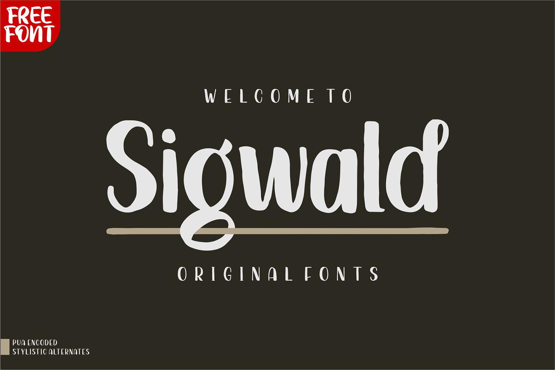 Sigwald Free Font