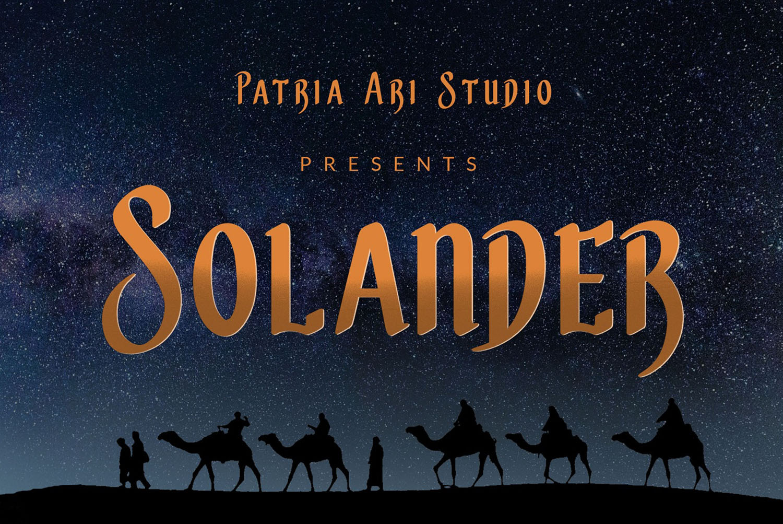 Solander Free Font