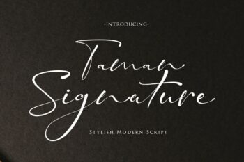 Taman Signature Free Font