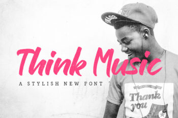 Think Music Script Free Font