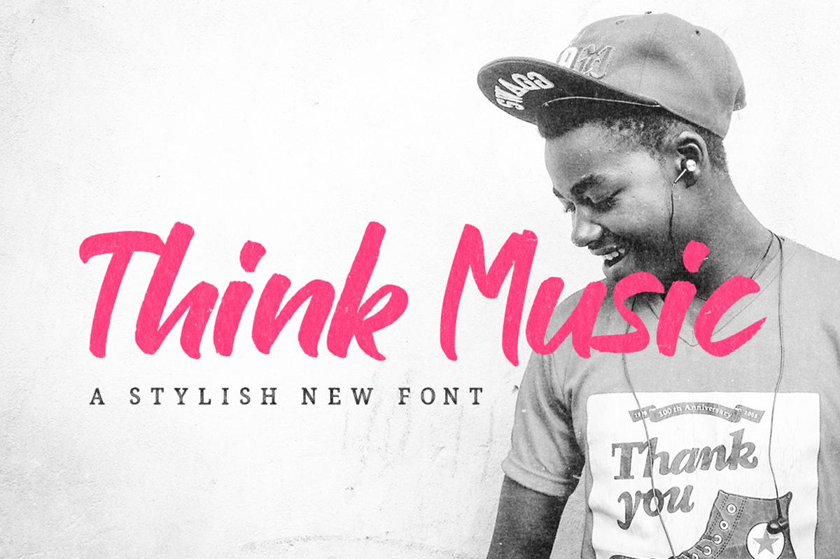 Think Music Script Free Font