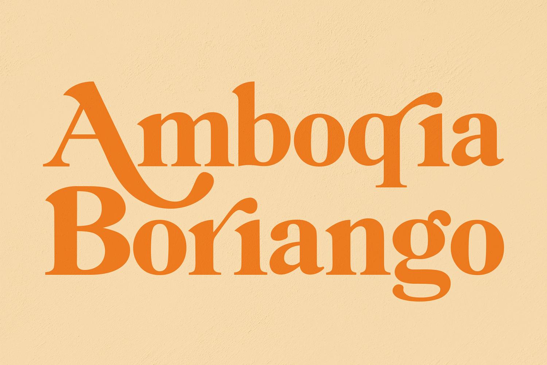 Amboqia Boriango Free Font