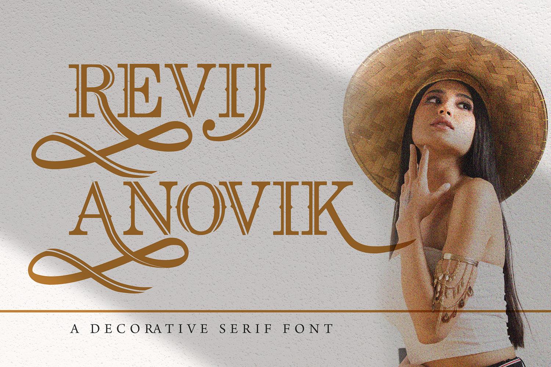 Revij Anovik Free Font