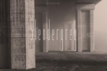 Slendergrey Free Font