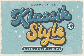 Klassik Style Free Font