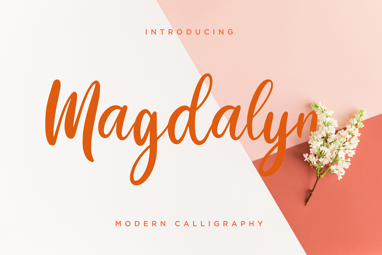 Magdalyn Free Font