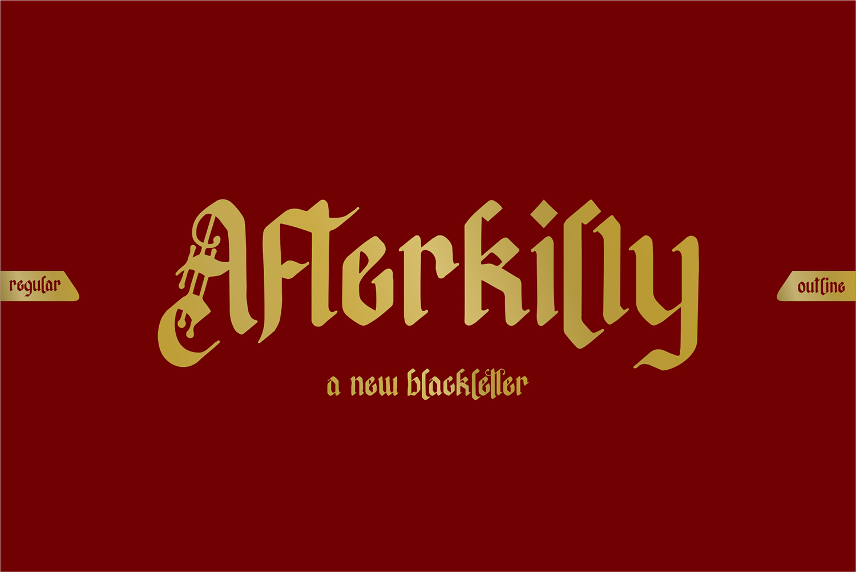 Afterkilly Blackletter Free Font