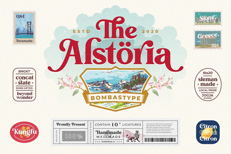Alstoria Free Font