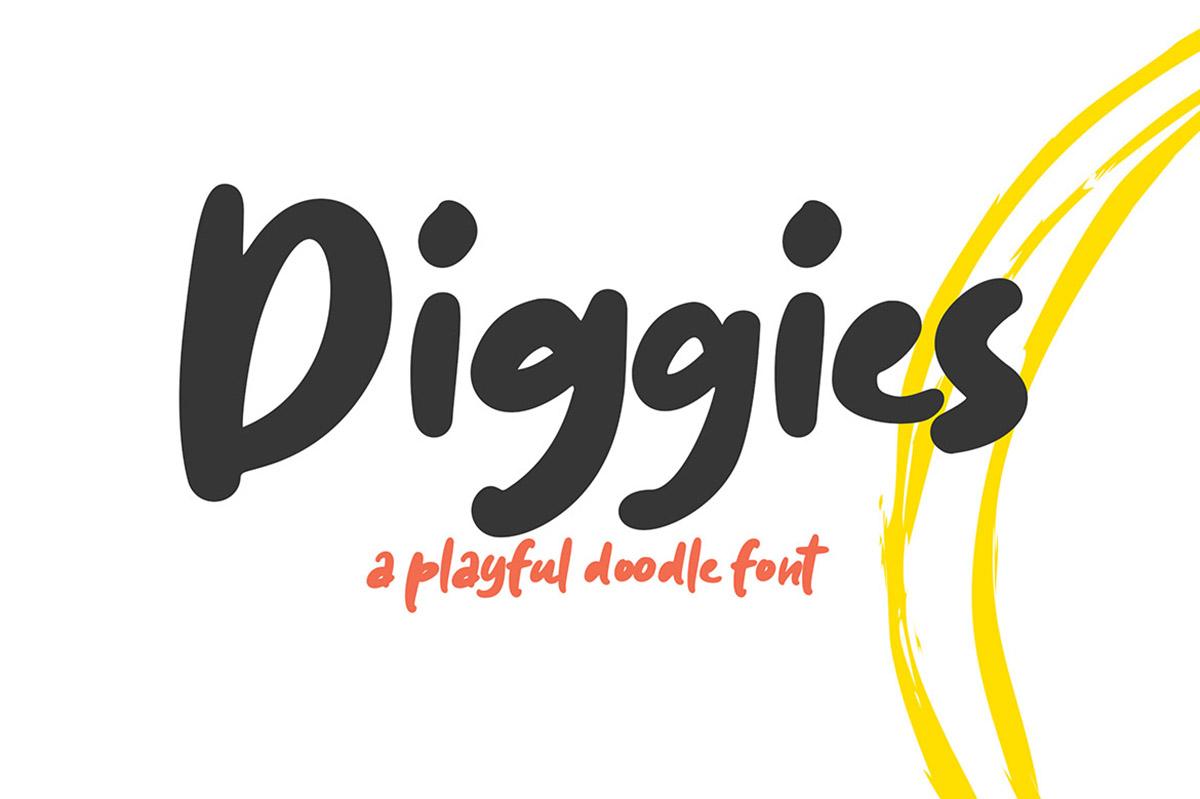Diggies Free Font