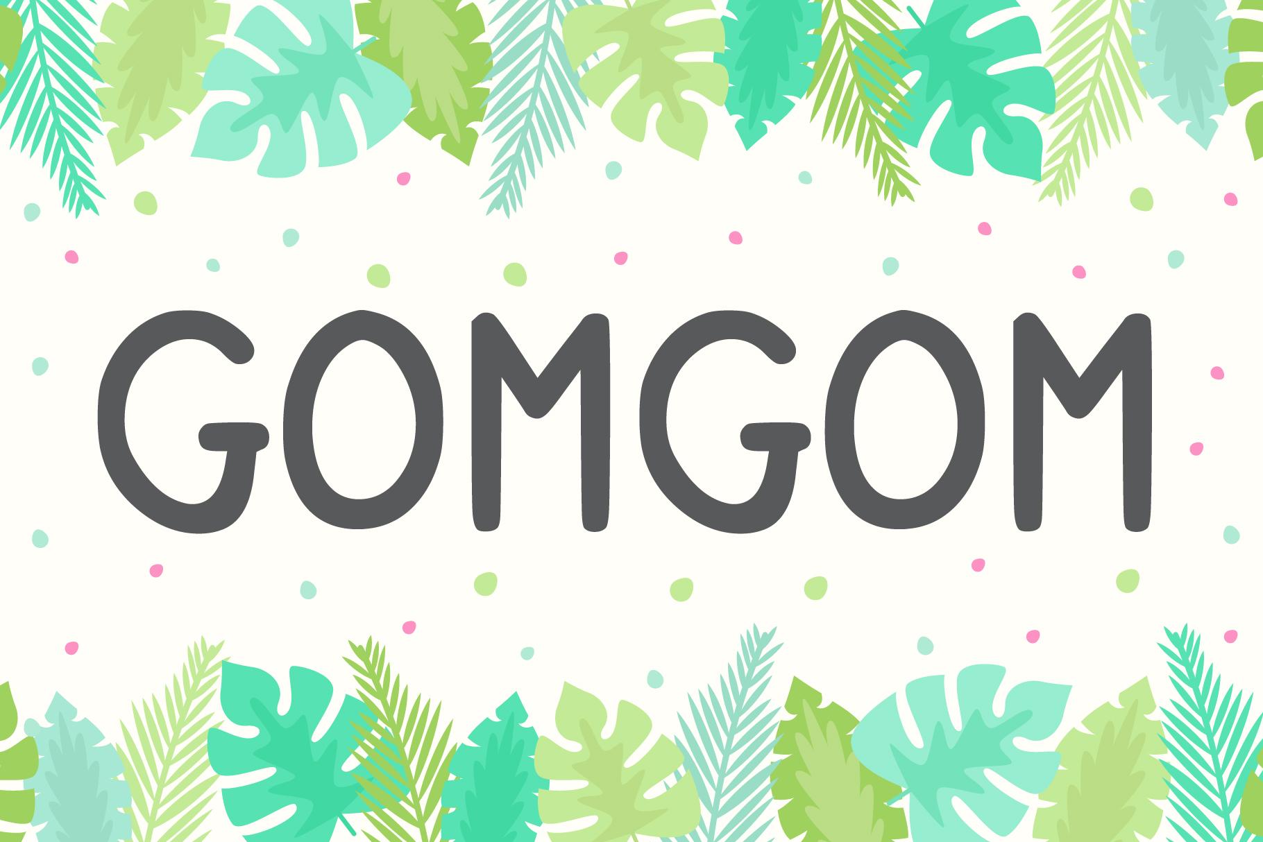 Gomgom Free Font