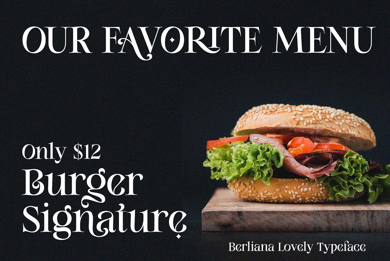 Berliana Lovely Free Font