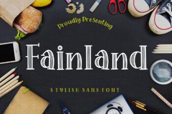 Fainland Free Font