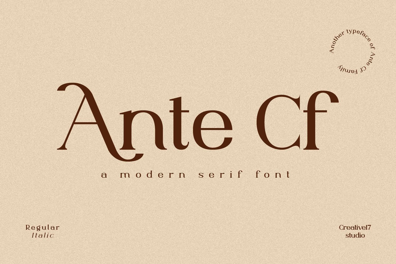Ante Cf Serif Free Font