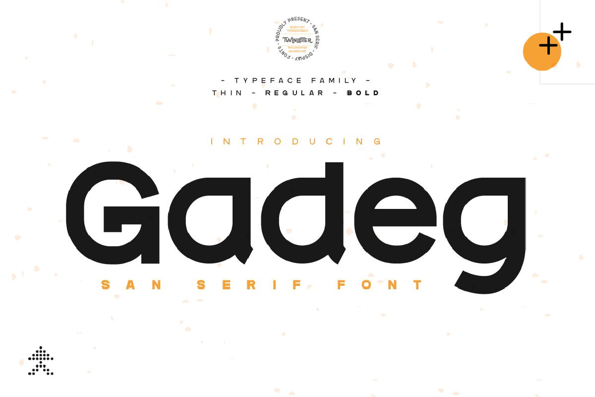 Gadeg Free Font