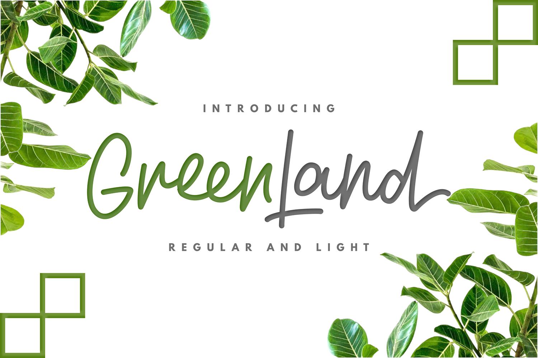 Greenland Free Font