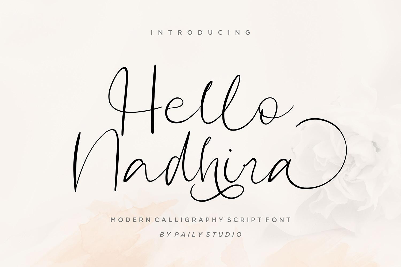 Hello Nadhira Free Font