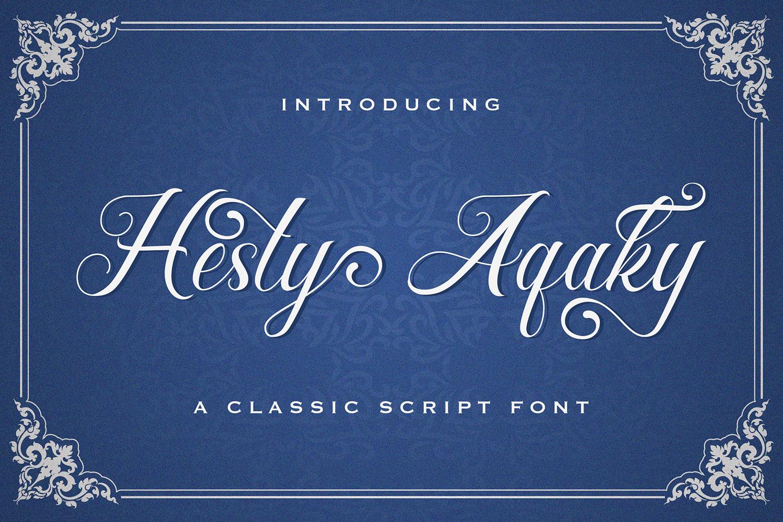 Hesty Aqaky Free Font
