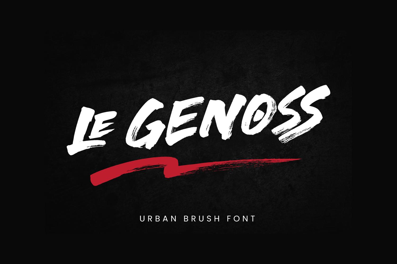 Le Genoss Free Font