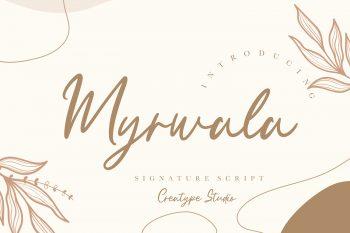 Myrwala Free Font