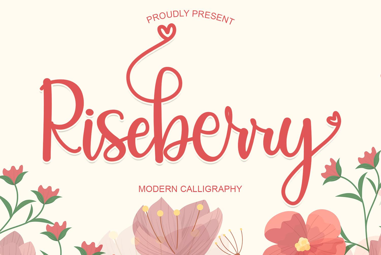 Riseberry Free Font
