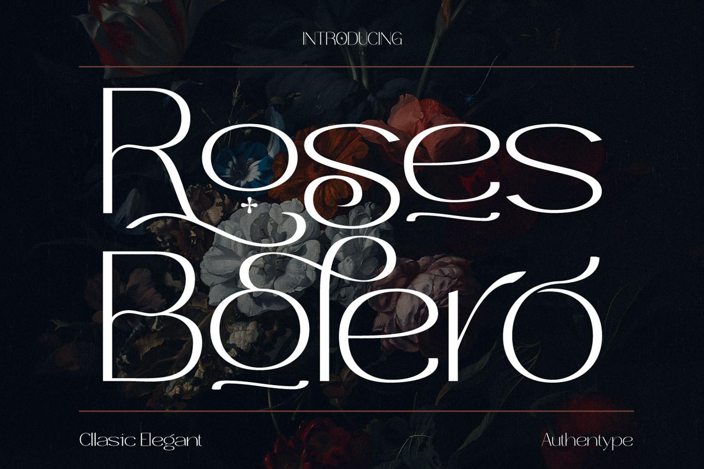 Roses Bolero Free Font