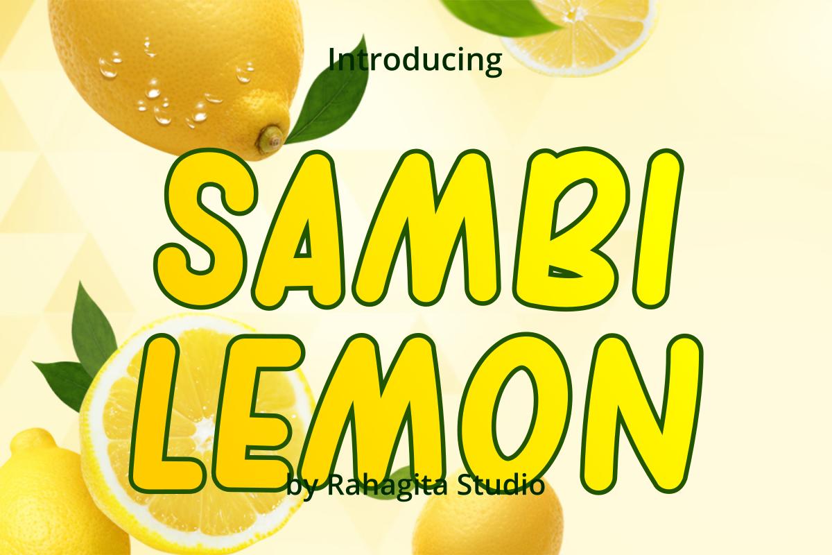 Sambi Lemon Free Font