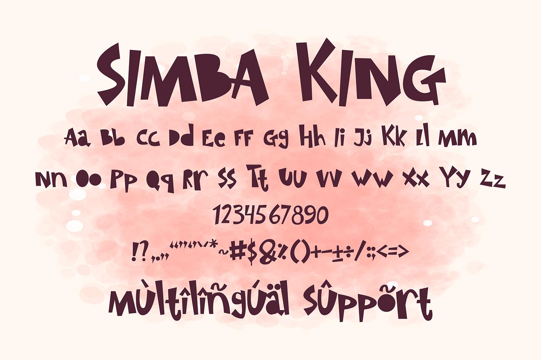 Simba King Free Font