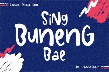 Sing Buneng Bae Free Font