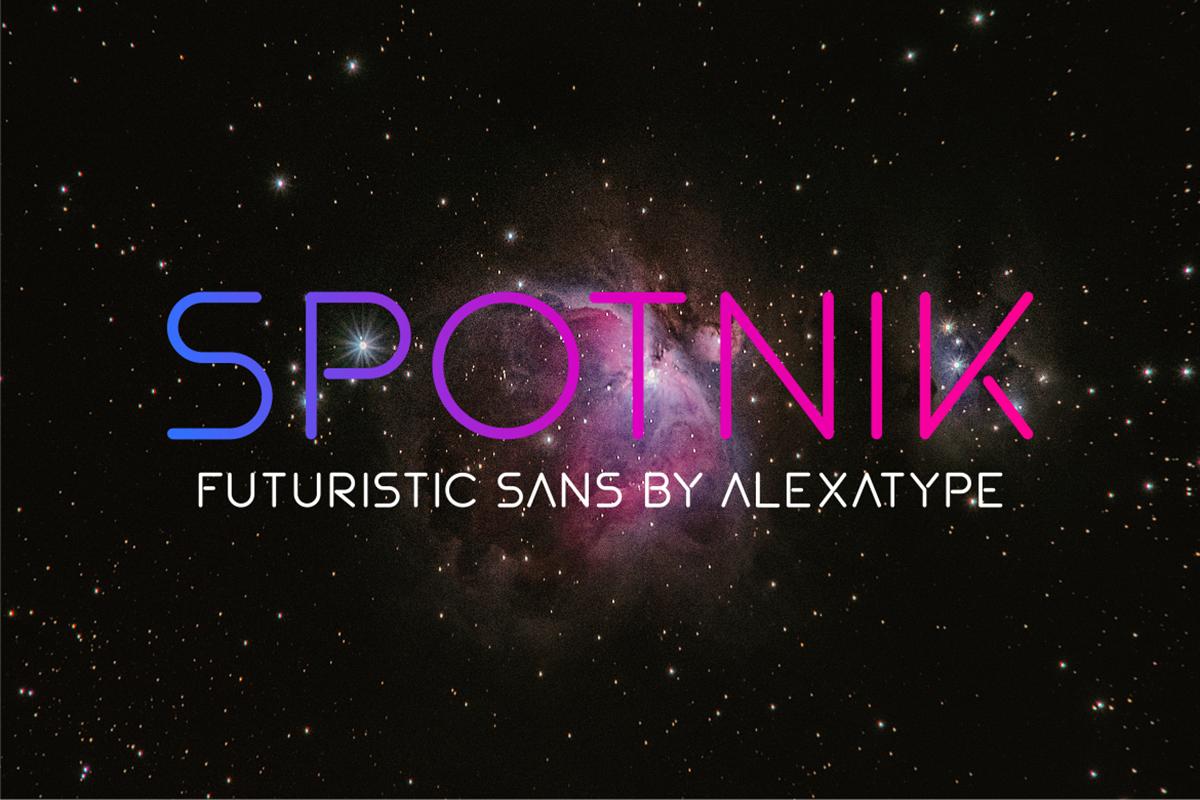 Spotnik Free Font