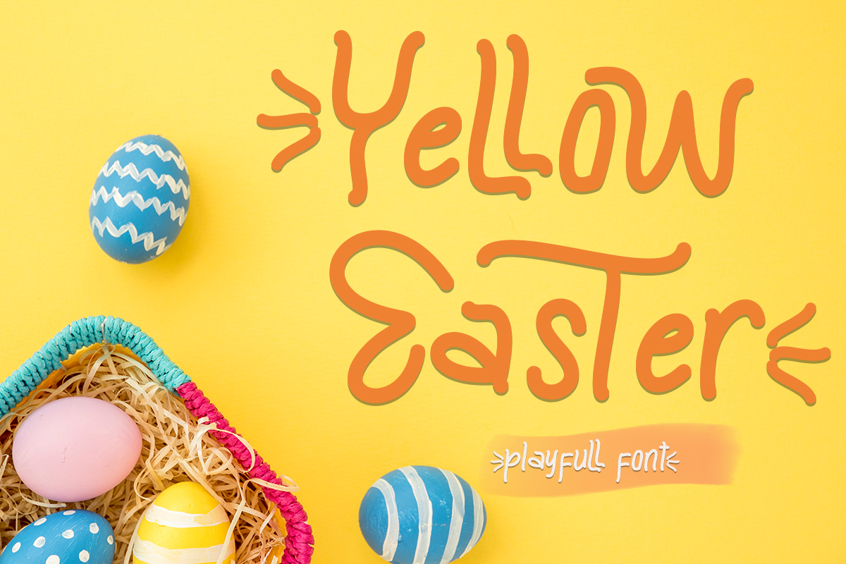 Yellow Easter Free Font