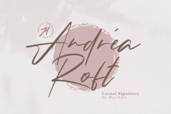 Andrea Roft Free Font