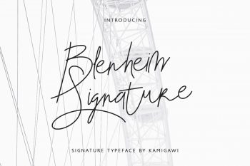 Blenheim Signature Free Font